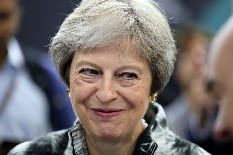 De Britse premier Theresa May. Beeld Getty Images