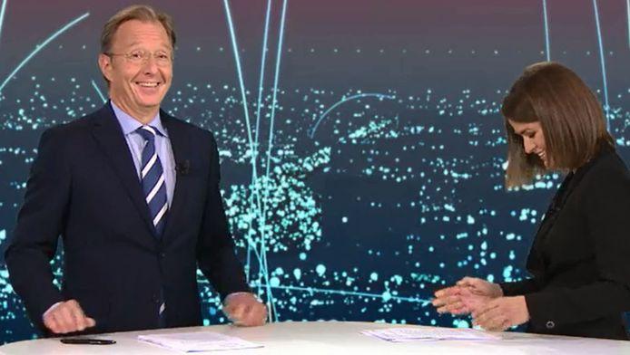 Merel Westrik bedankt Rick voor 19 jaar RTL Nieuws.