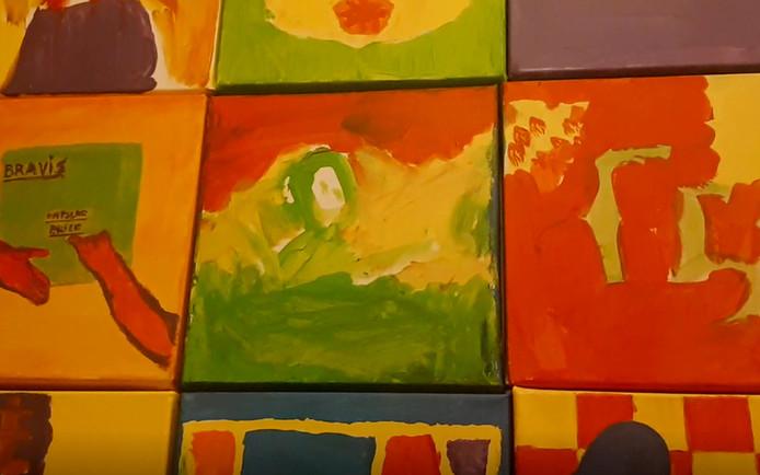 Kayne (6 jaar) maakte een landschap in Roosendaal