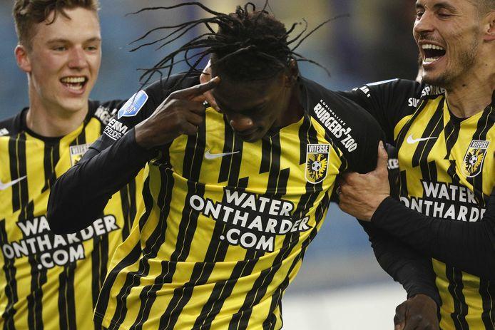 Idrissa Touré is de held van Vitesse na de 2-1 tegen PEC Zwolle.