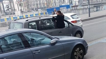Alweer trouwstoet tegengehouden in Brussel