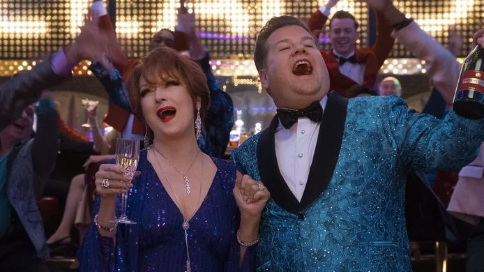 Meryl Streep en James Corden in The Prom.