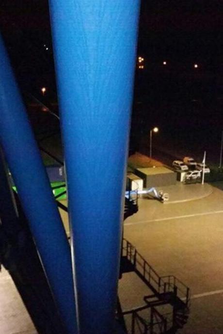 Politie in Almelo tevergeefs dertig meter de lucht in