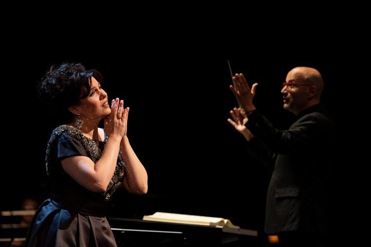 Marina Rebeka in Donizetti Queens in Concert van De Nationale Opera. Beeld Ben van Duin