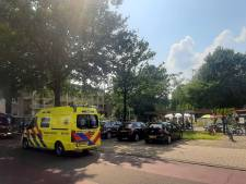 Brandweer bevrijdt kind uit speeltoestel in Enschede