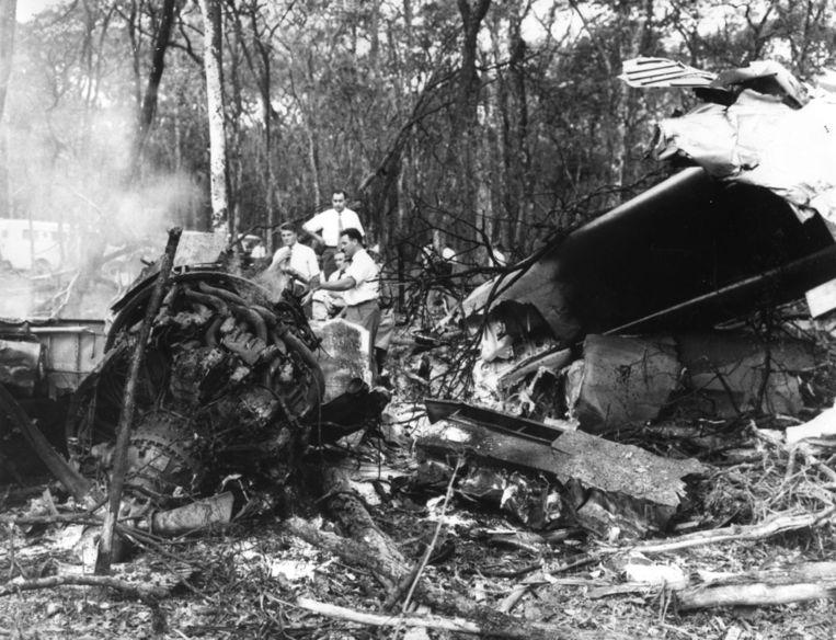 Het gecrashte vliegtuig van Dag Hammarskjöld Beeld ANP