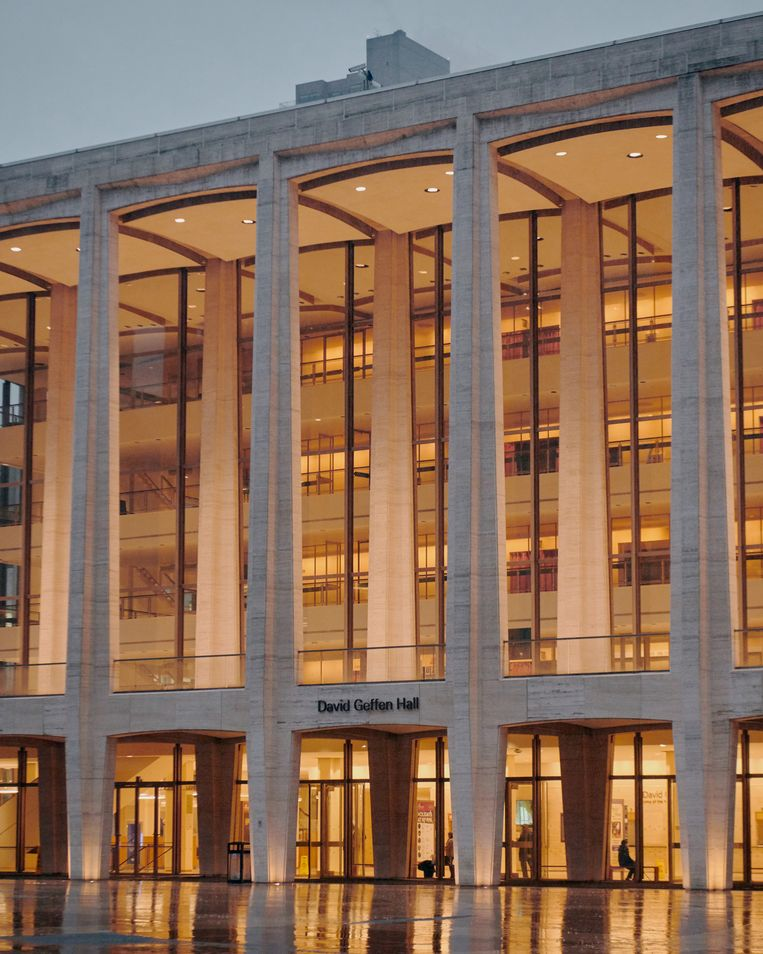 De David Geffen Hall in New York. Beeld Hollandse Hoogte / The New York Times Syndication