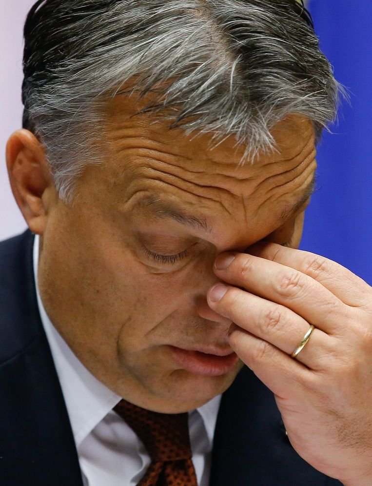 De Hongaarse premier Viktor Orban. Beeld epa