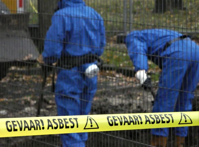 Asbestsanering, foto ter illustratie.