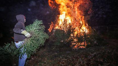 Kerstbomen belanden voor het zestiende jaar op rij op de vuurstapel