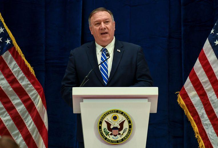 Archiefbeeld. De Amerikaanse minister Mike Pompeo van Buitenlandse Zaken.