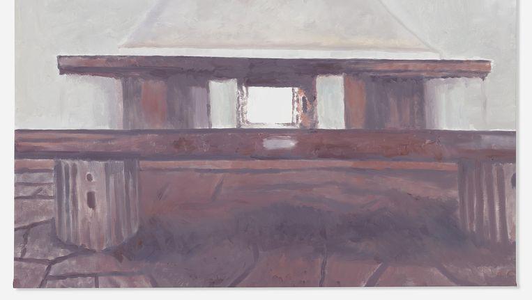 'Le Mépris' is een van de negen introverte werken die Tuymans in New York voorstelt. Beeld Luc Tuymans