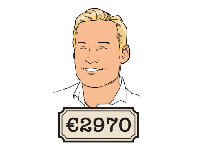 Treindienstleider Barry (28) is blij met zijn salaris, dat komt vooral door de grote onregelmatigheidstoeslag.