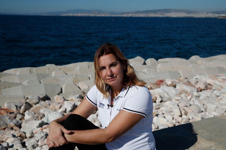 Olympisch zeilkampioene Sofia Bekatorou. Beeld AP