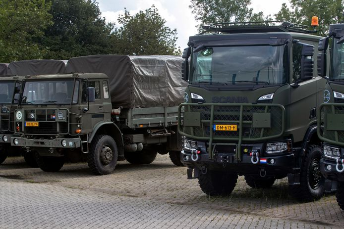 De oude DAF YA-4440 vrachtwagens, ook wel de zogenoemde 4-tonners