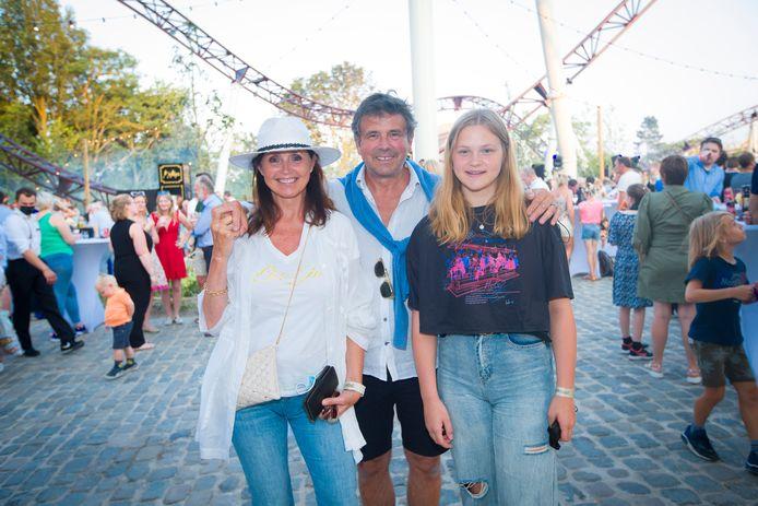 Wendy Van Wanten met echtgenoot Frans en dochter Estelle