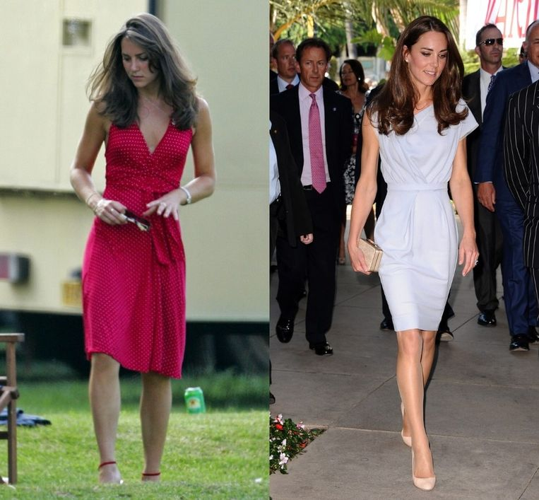 Kate in 2006... en in 2011. Beeld UNKNOWN