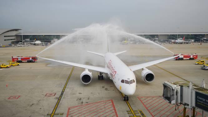 Dreamliner geland op Brussels Airport