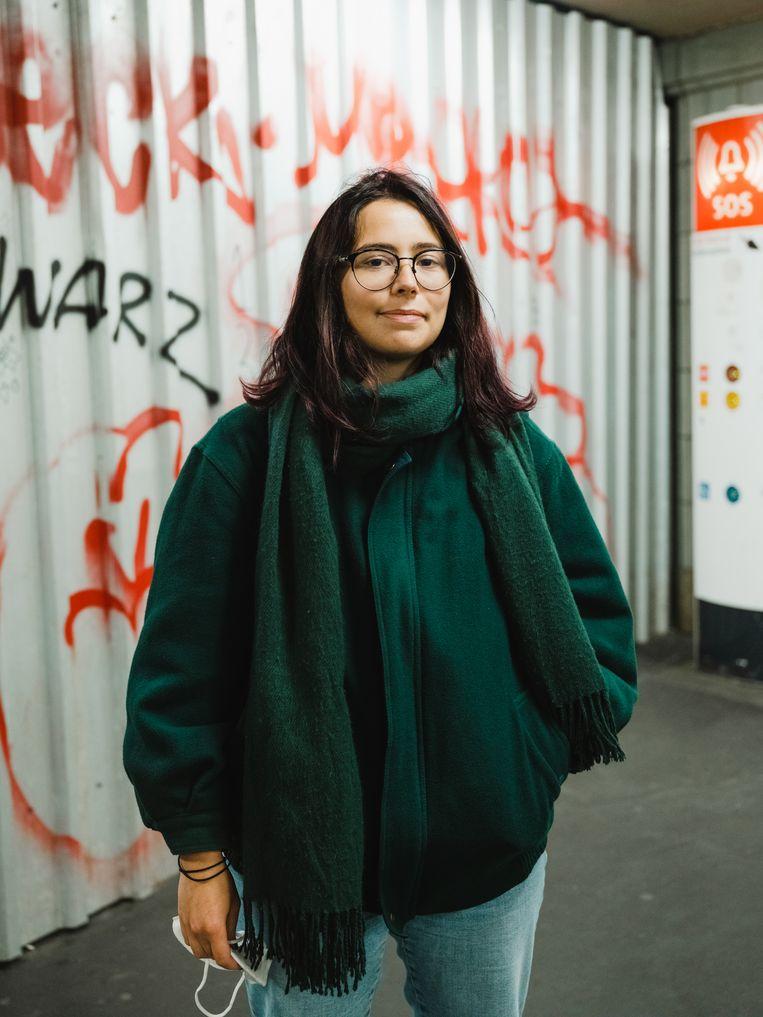 Charlotte Castillion-Weisse: 'Met meer Europese integratie kunnen we iets doen tegen de toenemende homofobie en misogynie in Hongarije en Polen'. Beeld Marcus Reichmann