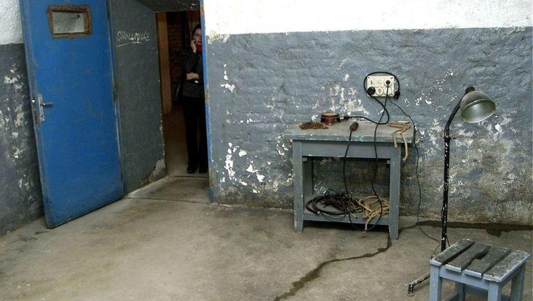 Een martelkamer in een museum in Boedapest. Beeld EPA