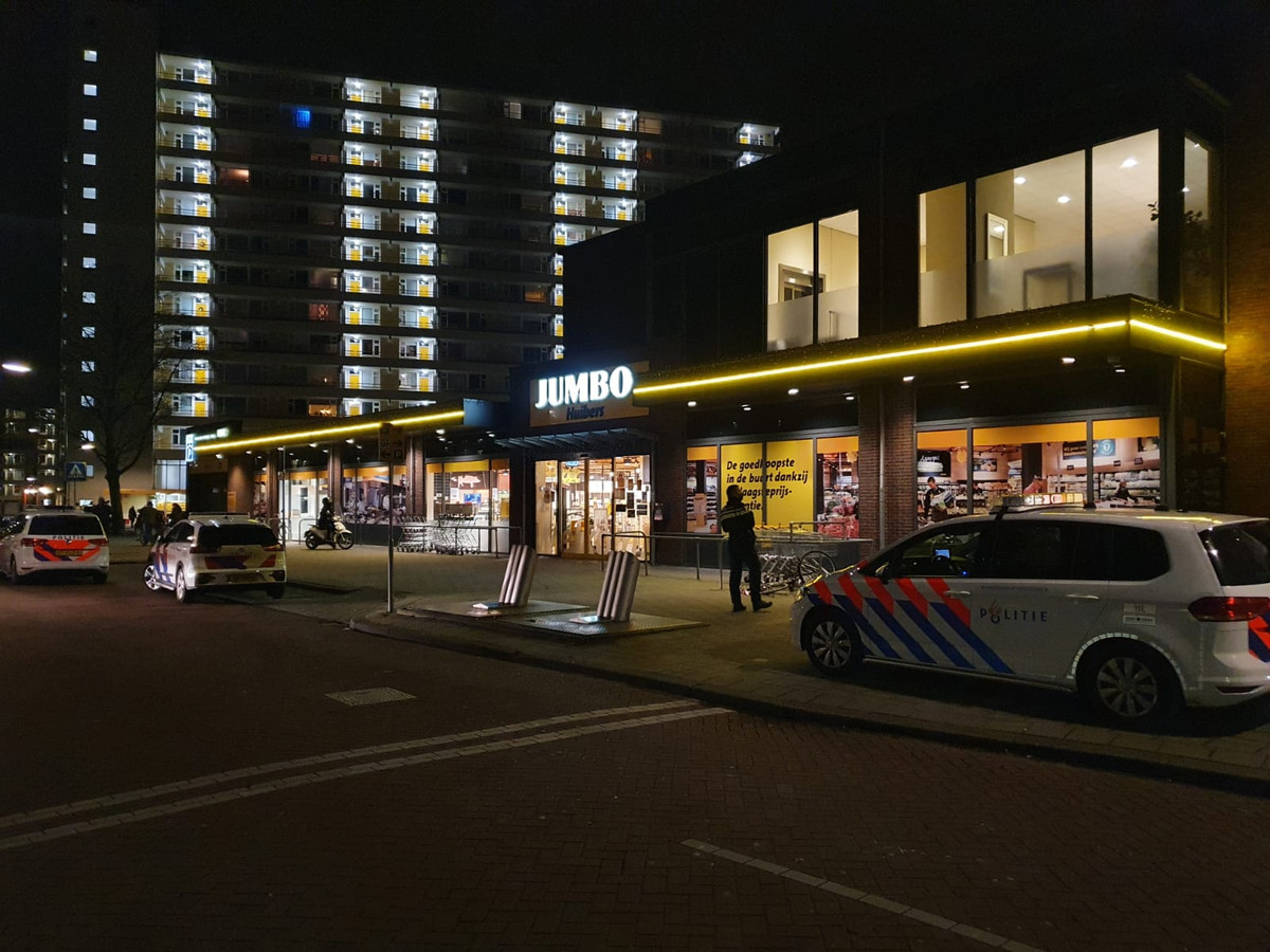 Direct na de overval in Veenendaal.