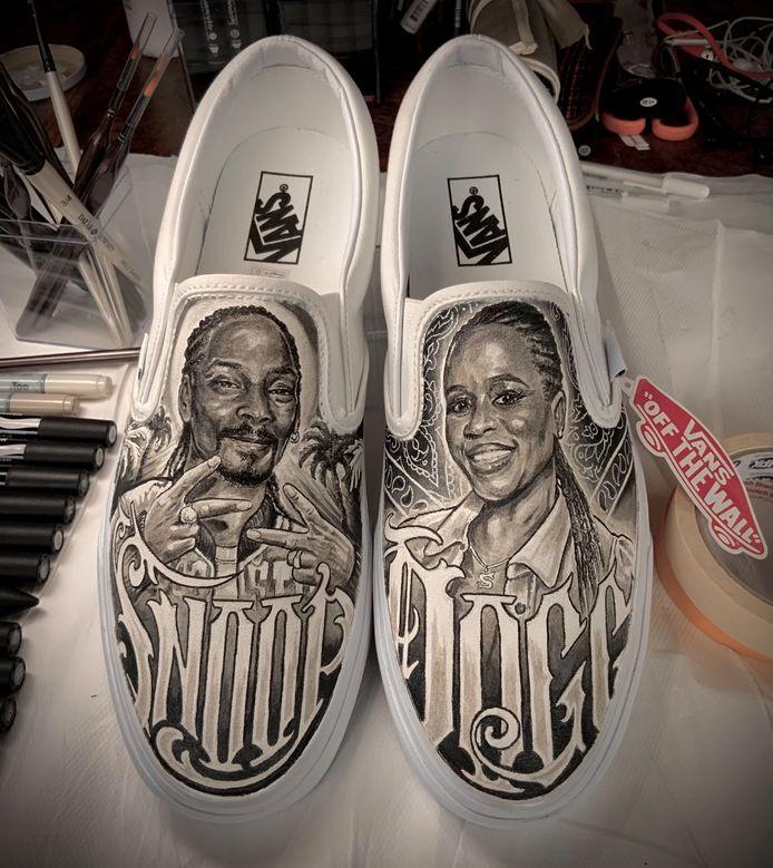 De schoenen voor Snoop Dogg.