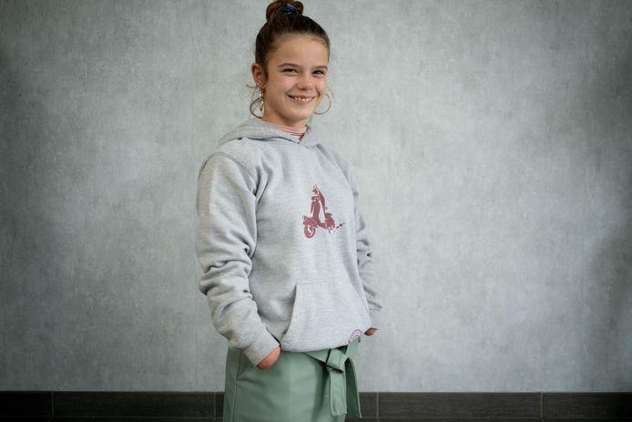 Audrey Van Bergen uit Lier is zondag te zien in het Ketnetprogramma 'Tekens van Leven'. Het meisje gaat zonder handen en voeten door het leven.