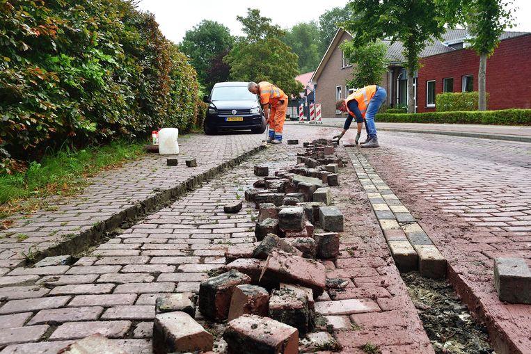 De grenslijn wordt 1,8 meter richting België verlegd  Beeld peter van trijen/pix4profs