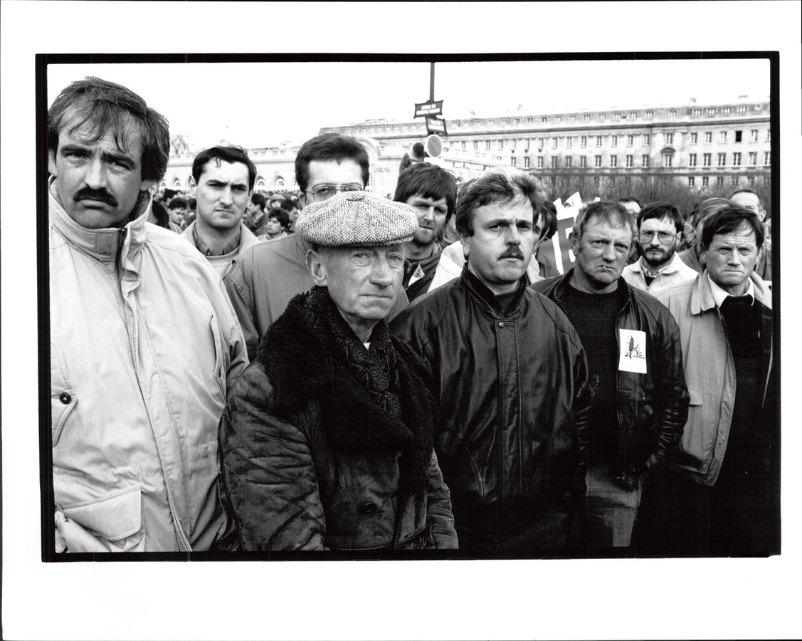 Stakende boeren in Parijs.