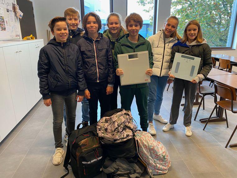 Red de-rug actie op het Sint-Bernardus instituut Knokke-Heist