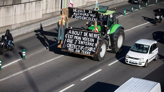 Boerenprotest met de tractor als tank