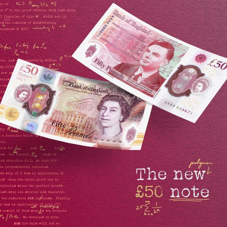 Het nieuwe briefje van 50 pond. Beeld via REUTERS