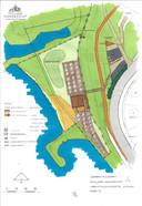 Een impressie van de nieuw indeling van het stadsstrandje, inclusief strandtent.