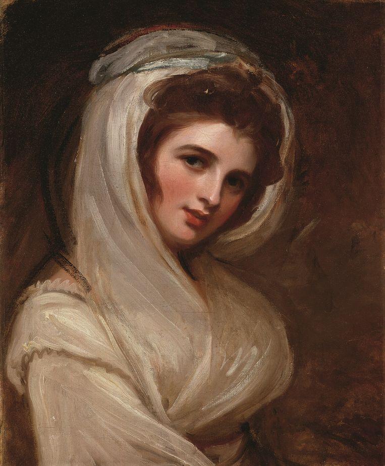 George Romney: Emma Hamilton (ca. 1785) Beeld National Portrait Gallery