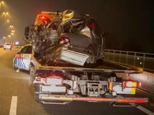 Auto met pech geramd door vrachtwagen op A50