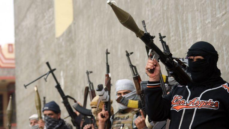 Strijders van de beweging ISIS. Beeld EPA