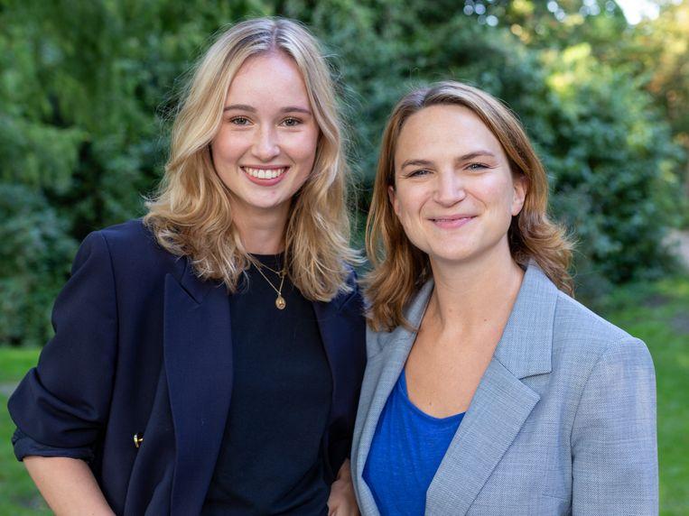 Juliet Broersen (25) en Nori Spauwen (36) Beeld Volt