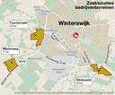 De zoeklocaties voor bedrijventerrein in Winterswijk: Tuunterveld, Elinksveld en Misterweg