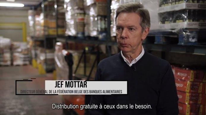 Jef Mottar, administrateur délégué de la Fédération belge des Banques Alimentaires