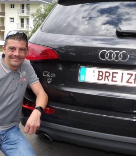 """Belge et totalement addict à la Bretagne, il roule avec une plaque """"Breizh"""""""