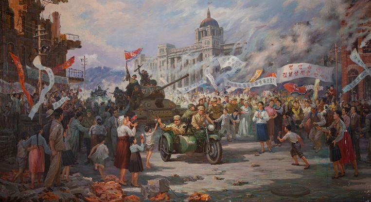 De bevrijding van Seoul door Noord-Koreaanse troepen enkele dagen na het begin van de Koreaanse oorlog. Beeld