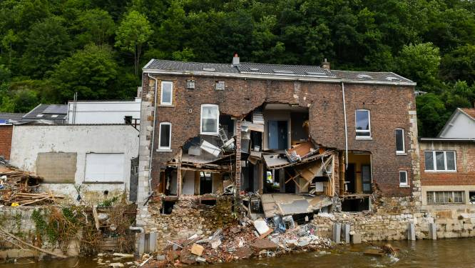 50-tal beschadigde woningen worden afgebroken na zware overstromingen in Pepinster