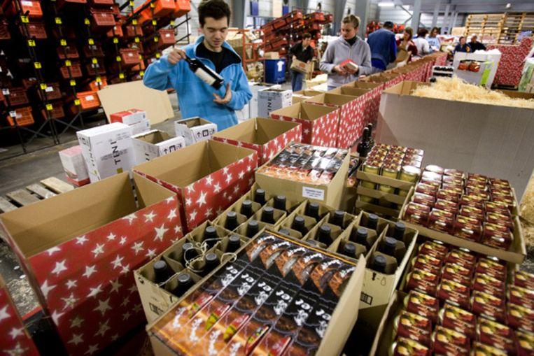 De meeste kerstpakketten waren al besteld voordat de crisis in alle hevigheid uitbrak. Foto ANP Beeld