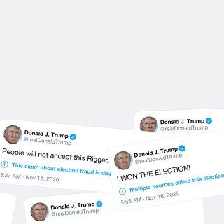 Ontkenning, woede, verdriet, nu acceptatie? De ondergang van Trump in 600 tweets
