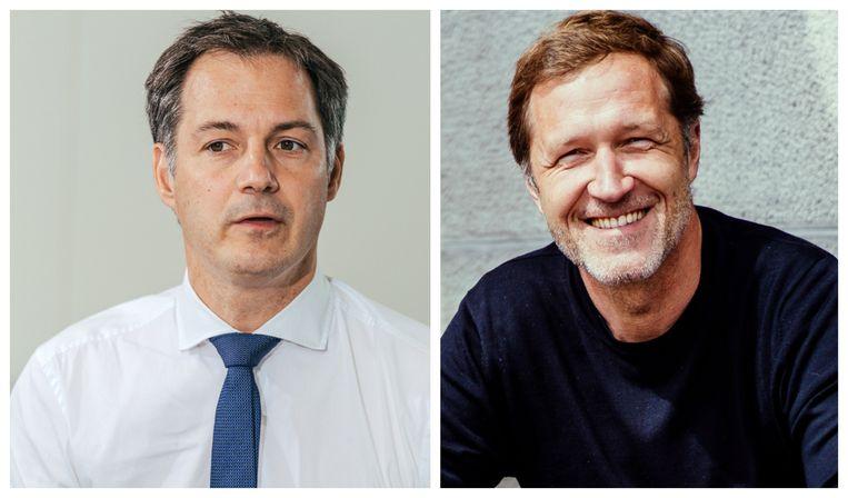 Alexander De Croo en Paul Magnette. Beeld .