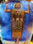660 tegeltjes telt het tableau van Johannes de Doper, dat ruim 60 jaar boven de entree van de school met zijn naam in Oisterwijk hing