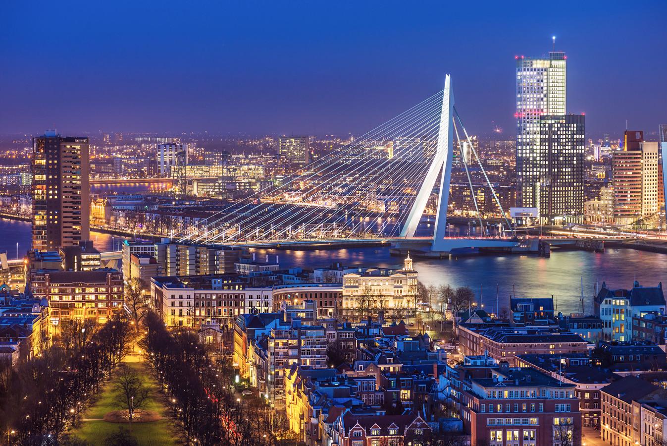 De Rotterdamse skyline.