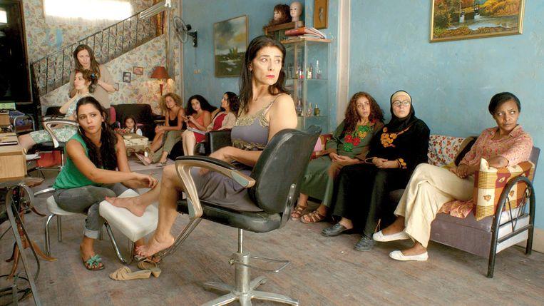 Dames in het schoonheidssalon Beeld -