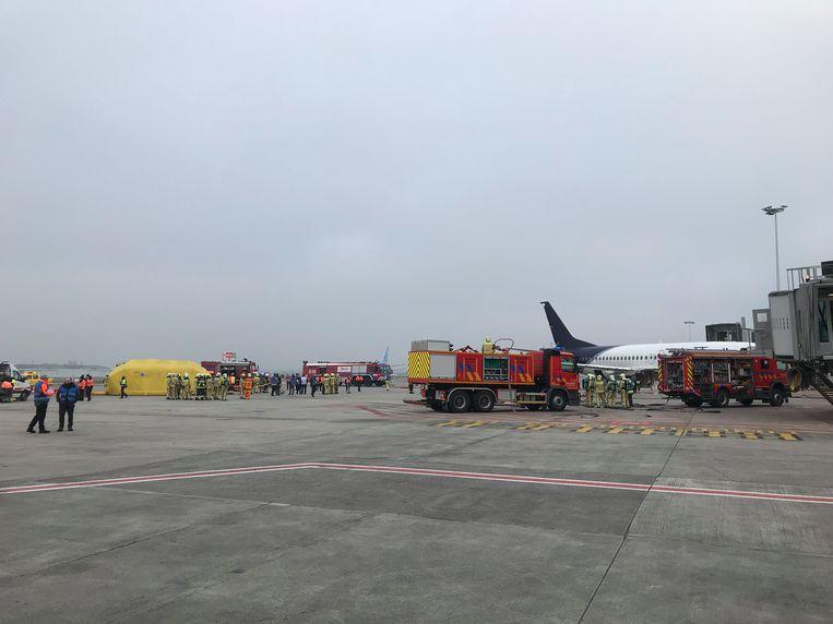 Op de luchthaven van Zaventem vindt de grote rampenoefening tweejaarlijks plaats.