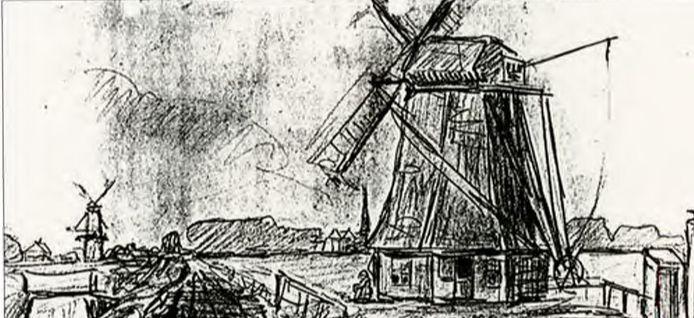 Jan Toorop, de molen in Wateringen